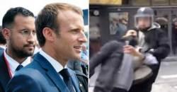 프랑스판 '문고리 권력'…마크롱 보좌관 무차별 시민폭행 파문