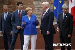 G7 개막식에 지각한 트럼프 대통령