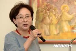 발언하는 장미란 한국YWCA연합회 평화통일위원장