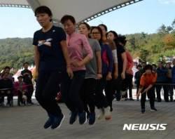 '힘차게 점프' 진안 홍삼축제에서 열린 줄넘기 대회