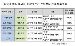 외국계 증권사 '매도' 리포트에...韓 대표종목들 '곤두박질'
