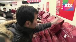 백화점서 '복불복 복주머니' 쟁탈전…일본 새해 풍경
