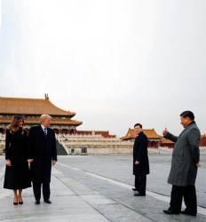 자금성 710년 만에 통째 비웠다  시진핑, 트럼프 파격 '황제 의전'