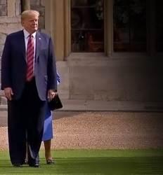 92세 여왕을 '땡볕 대기' 의장대 사열 땐 길 막아  영국 열받게 만든 트럼프