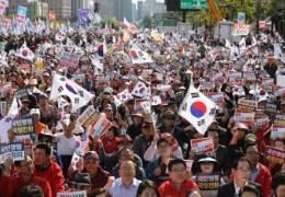 """한국당 광화문 집회 """"손흥민 당했는데 남북올림픽이라니"""""""