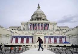 참석자보다 경비병력이 25배···사상초유 美대통령 취임식