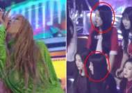 RED VELVET And GFRIEND React To HYUNA's 'Lip & Hip' Performance Live