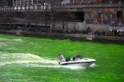 [서소문사진관]미 시카고 강에도 녹조? 이유는 성 패트릭 데이
