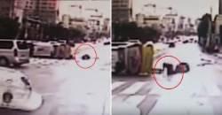 [영상] 차에서 튕겨 나오고도, 엉금엉금 기어가 환자 보살핀 구급대원