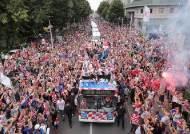 [서소문사진관]416만명 국민 중 55만 명 몰린 크로아티아 대표팀 환영식