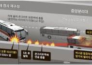 방호벽에 연쇄 충돌, 연료통 깨지며 5초 만에 불길