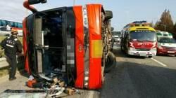경부고속도로서 관광버스 전도…4명 사망