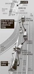관광버스 사고유발 NF쏘나타 운전자 긴급체포