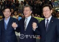 """박원순 """"4년 적폐 청산""""…이재명 """"내 생각과 완전 일치"""""""