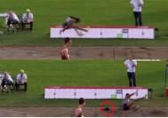 벗겨진 가발 때문에…기록도 줄어든 女멀리뛰기 선수