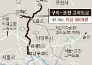 동홍천~양양 72㎞ 4100원인데 구리~포천 45㎞에 3800원