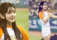 '걸그룹 미모' 뽐내는 한화의 20살 신입 치어리더