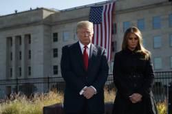"""[서소문사진관]""""미국은 절대 위협받지 않을 것""""… <!HS>9<!HE>ㆍ<!HS>11<!HE><!HS>테러<!HE> 16주기 트럼프 대통령 비롯 미 전역 추모"""