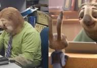 핼러윈에 일하기 싫은 마음 '나무늘보' 코스프레로 극복한 직원