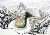 산과 산 사이 물이 굽이치는 곳··· 사실 꽤 많은 한반도지형