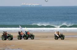 [사진] 기름 유출 사고 10년 … 만리포해변 달리는 성화