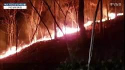 부산 기장군 삼각산 큰 불길 잡혀…진화작업 속도