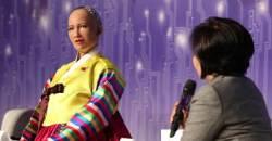 갑자기 엉뚱한 소리 한 로봇 소피아…그 이유는 한복 때문?