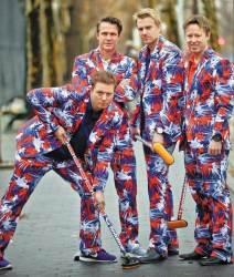 '미친 바지' 노르웨이 컬링 남자대표팀. 오늘은 어떤 바지?