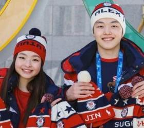 American Ice Dancers Would Like to <!HS>Gift<!HE> BTS Knit Hats