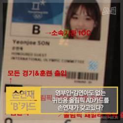 [카드뉴스] 영부인·김연아도 없는 귀빈용 올림픽 AD카드를 손연재가 갖고있다?