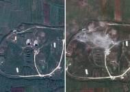 [서소문사진관]미 국방부, 시리아 공습 전·후 위성사진 공개