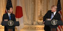 트럼프 '<!HS>TPP<!HE>·관세배제' 다 거부···아베, 잔인한 귀국길