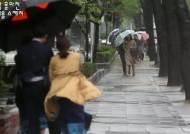 [서소문사진관]변덕스런 비바람에 우산 뒤집어지고 머리카락 승천!