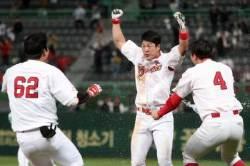 치열한 선두권 싸움…노수광 끝내기로 SK 승리