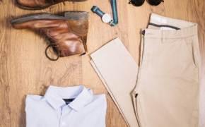 갈색 재킷에 남색 셔츠, 이탈리안 중년 패션 완성 공식