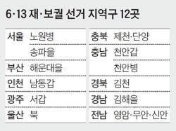 국회의원 4% 바꾸지만 … 6·13 재·보선은 민심 바로미터
