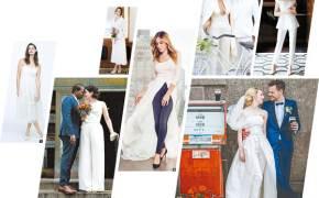 [江南人流] 젊은 신부들 웨딩 드레스 대신 '웨딩 팬츠'를 입다