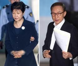 [서소문사진관]<!HS>이명박<!HE> 전 대통령 첫 재판, 수갑 안 찬 이유