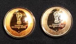 [서소문사진관]최초의 돔형 메달? 러시아 월드컵 기념주화·메달 공개!