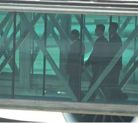<!HS>북한<!HE> 김영철, 뉴욕 JFK 국제공항에 도착