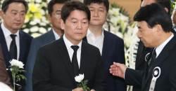 """JP 빈소 찾은 <!HS>안철수<!HE> """"항상 말씀하던 화합ㆍ통합 가슴 새길 것"""""""