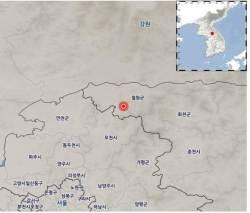 강원 철원군 인근에 규모 2.7 <!HS>지진<!HE>