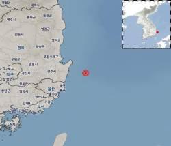 포항 동남동쪽 44㎞ 해역서 규모 2.5 <!HS>지진<!HE>