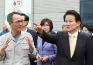 """""""현장에 희망 있다"""" 정동영, 집단휴가中 한진중 방문"""