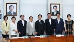 [포토사오정]민평당에도 걸린 김대중·<!HS>노무현<!HE> 두 전직 대통령의 초상