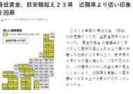 日 지역별 평균 최저임금 8888원…도쿄, 1만원대로 가장 많아