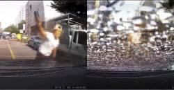 [영상] '문 콕' 항의하자 차 유리 박살 낸 자전거 운전자