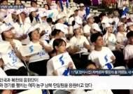 [김성룡의 자카르타 사진관]'우리는 하나다!' 남과 북이 함께 단일팀 응원