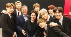 National-hit group BTS meet president MOON JAE-IN in Paris
