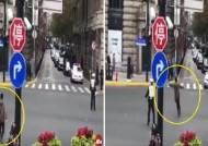 [영상] 눈깜짝할 사이 시진핑 차량 행렬 막아선 남성의 정체